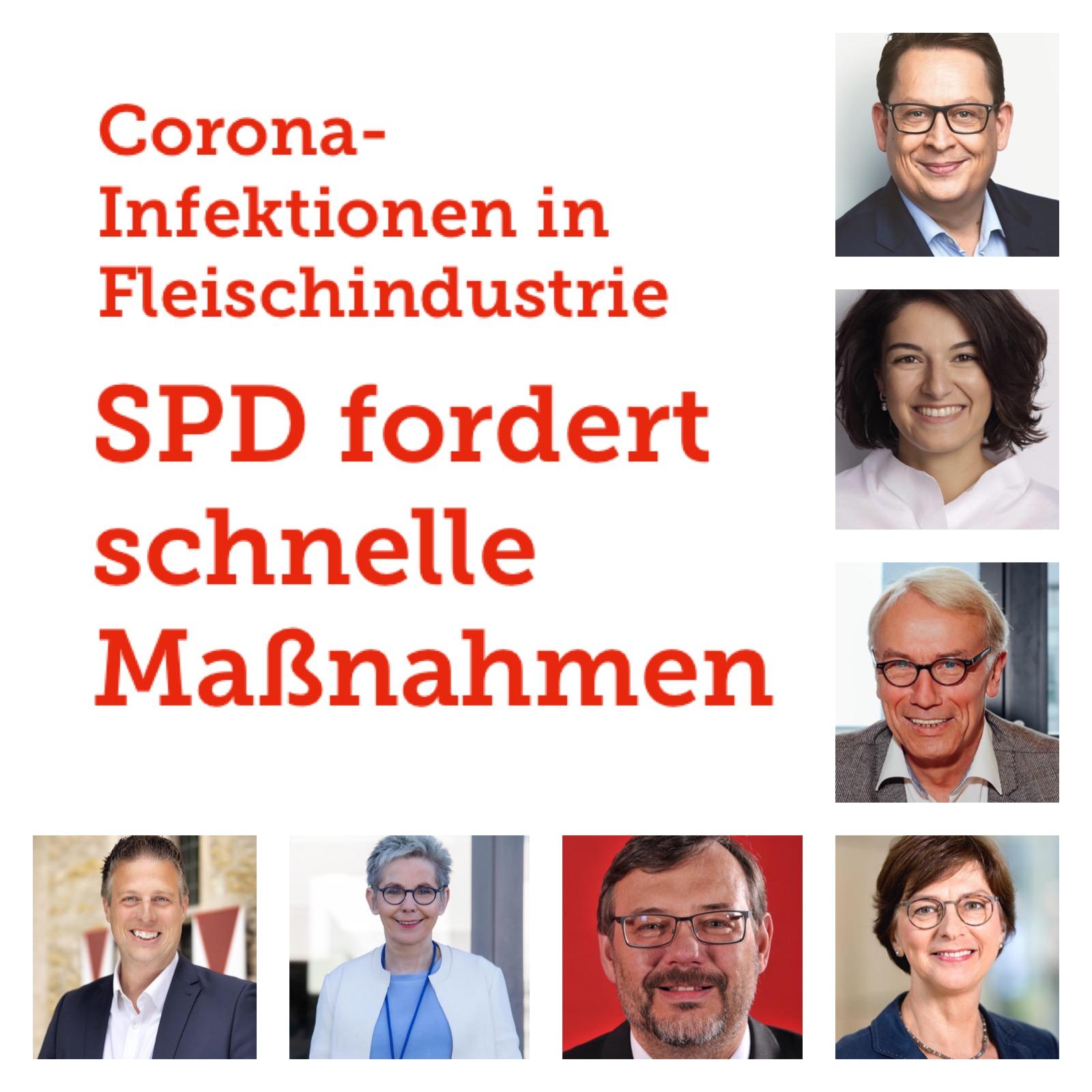 Corona-Infektionen und Fleischindustrie:  SPD fordert schnelles Handeln auf allen Ebenen